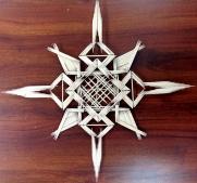 Toothpick snowflake